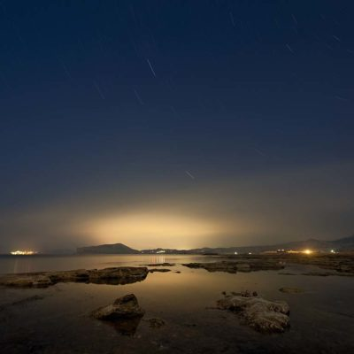 Ночной Судак, вид с Ilgeri Resort